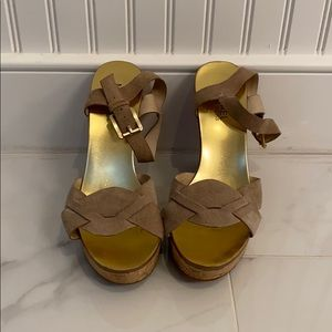 Michael kors wedge espadrille sandals 6.5